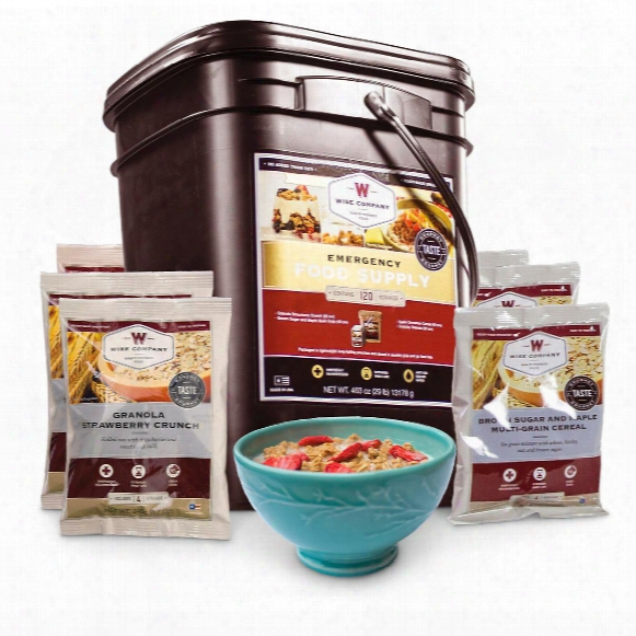 Wise Emergency Food Supply Grab & Go Breakfast Bucket, 120 Servings