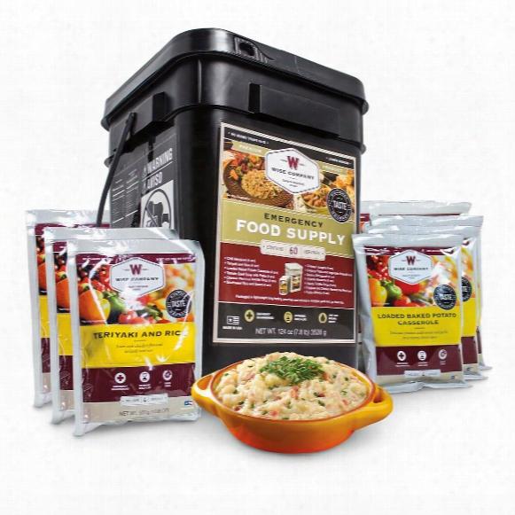 Wise Foods Entree Only Grab & Go Emergency Food Supply, 60 Servings