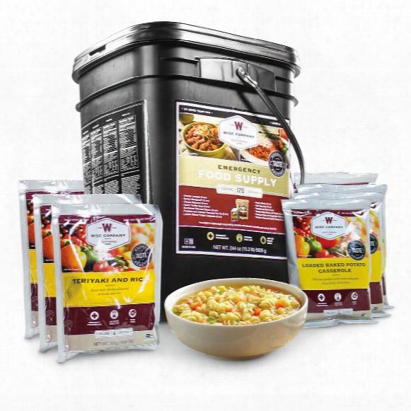 Wise Foods Entree Only Grab & Go Emergency Food Supply, 120 Servings