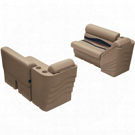 "Wise Premier Pontoon 36"" Bench And Lean Back Seating Group"
