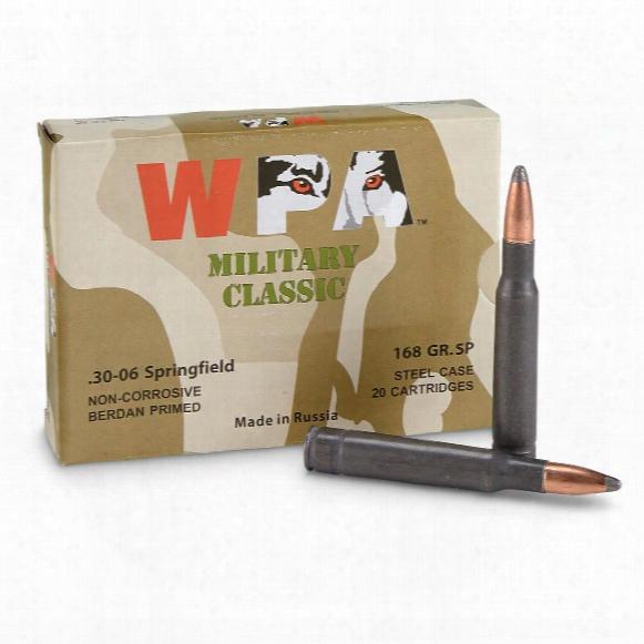Wolf Wpa Military Classic, .30-06, Sp, 168g Rain, 100 Rounds