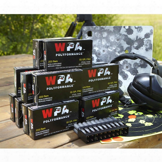 Wolf Wpa Polyformance, .223 Remington, Fmj, 55 Grain, 500 Rounds