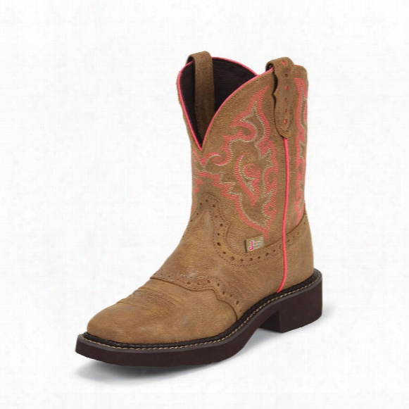 "Women's Justin® 8"" Diamond Cut Pull Strap Boots"