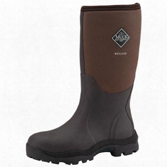 "Women's Muck Boots 14"" Wetland Premium Waterproof Hunting Boots, Bark"
