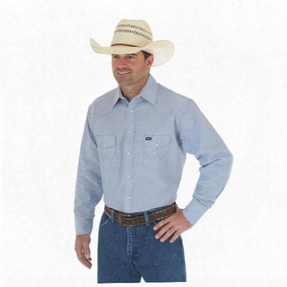 Wrangler Men's Cowboy Cut Western Work Chambray Long Sleeve Shirt