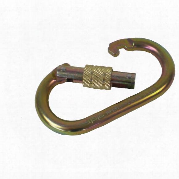 2-pk. Portable Winch Co. Pca-1276x2 Steel Locking Carabiners