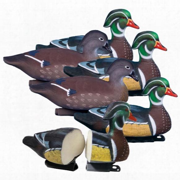 6-pk. Of Higdon® Foam-filled Standard Wood Duck Decoys