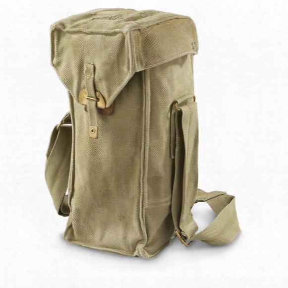 Belgian Military Surplus Canvas Shoulder Bags, 3 Pack, Used