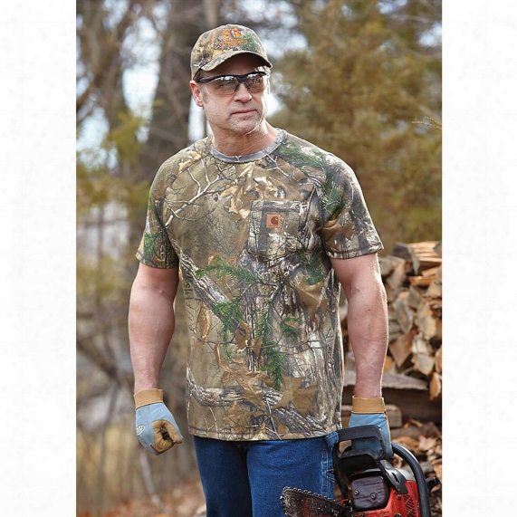 Carhartt Force Delmont Camo Short-sleeved T-shirt, Realtree Xtra