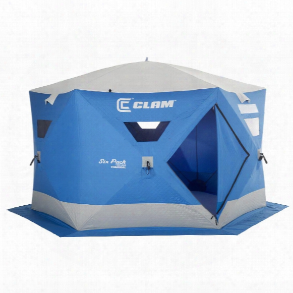 Clam Six Pack 1660 Mag Thermal Ice Fishing Shelter