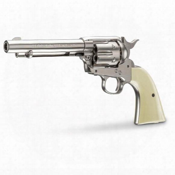 "Colt Peacemaker Saa Co2 Revolver, .177 Caliber, 5"" Nickel Barrel, 6 Rounds"