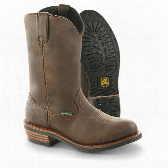 Dan Post Men's Albuquerque Waterproof Cowboy Boots, Brown