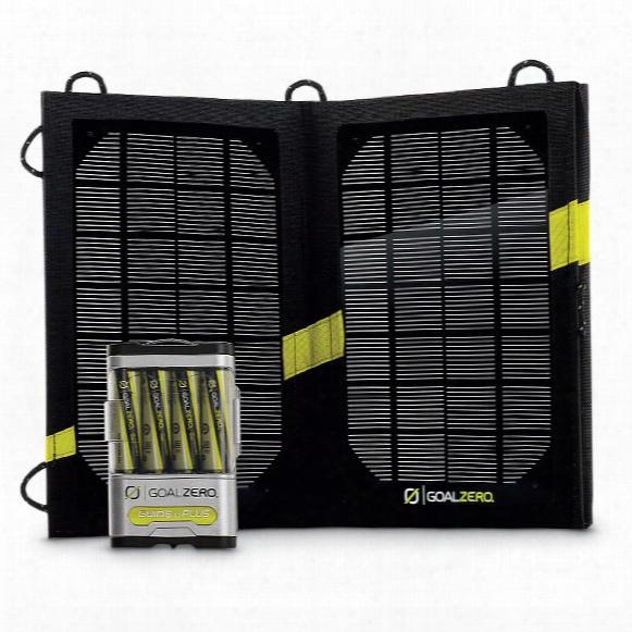 Goal Zero Guide 10 Plus Solar Recharging Kit With Nomad 7 Solar Panel