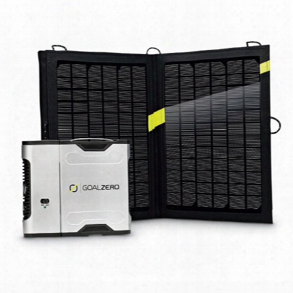 Goal Zero Sherpa 50 Solar Recharging Kit With Nomad 13 And 110v Inverter