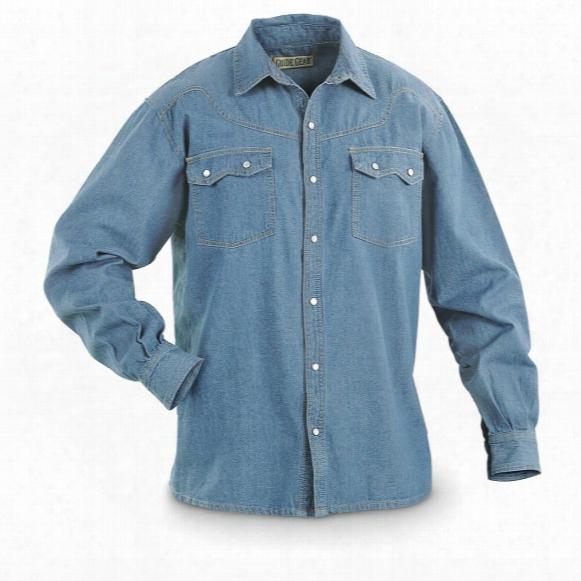 Guide Gear Men's Sawtooth Denim Long-sleeve Shirt