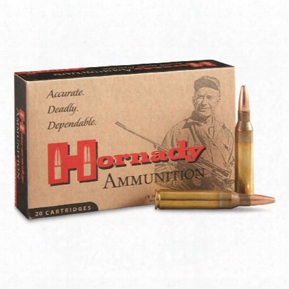 Hornady, Custom, .338 Lapua, Sp, 250 Grain, 20 Rounds