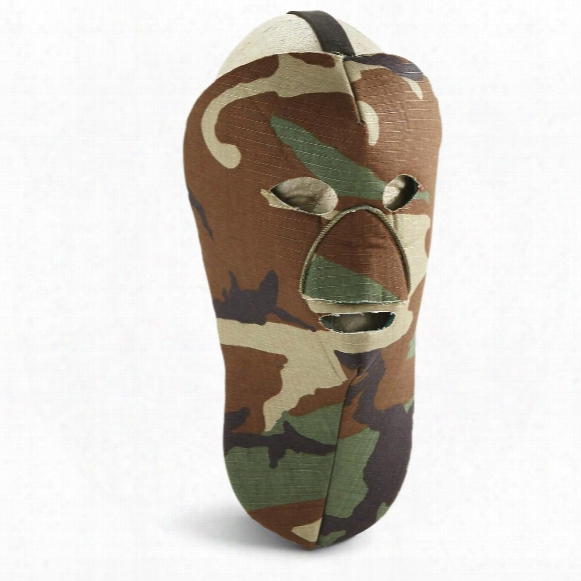 Military-style Woodland Camo Neoorene Face Masks, 3 Pack