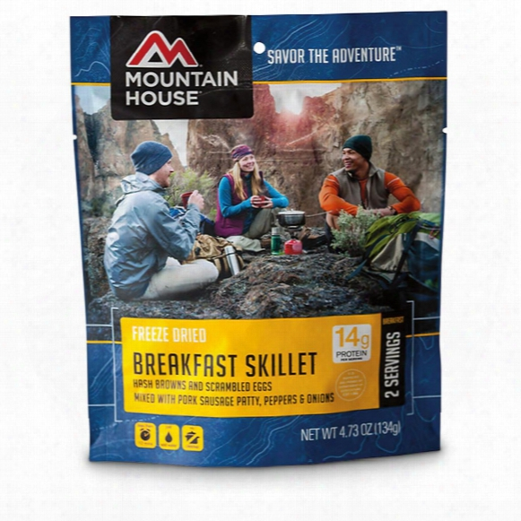 Mountain House Camp Food Freeze-dried Breakfast Skillet, 2 Pouches