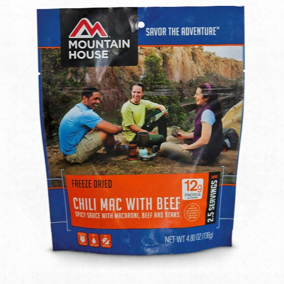 Mountain House Camp Food Freeze-dried Chili Mac, 2 Pouches