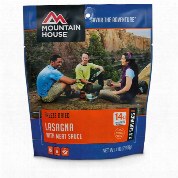 Mountain House Camp Food Freeze-dried Lasagna, 2 Pouches
