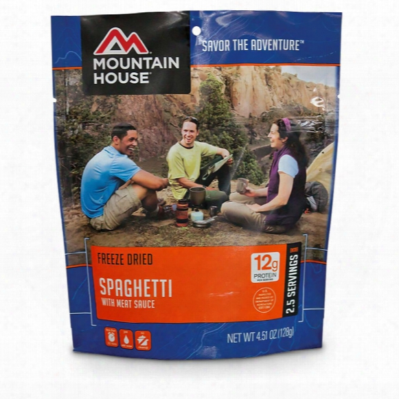 Mountain House Camp Food Freeze-dried Spaghetti, 2 Pouches