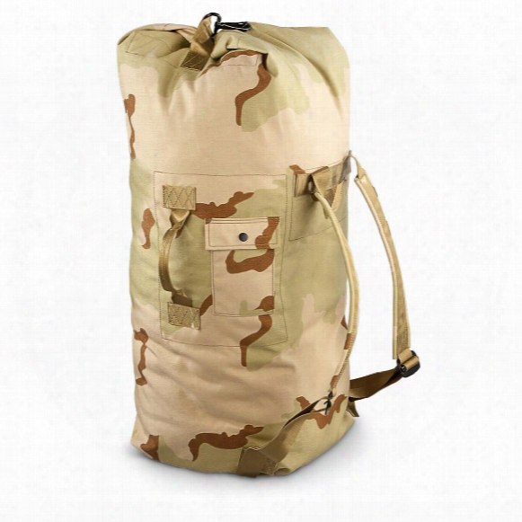 New U.s. Military Surplus Fir-resistant Duffel Bag, Desert Camo