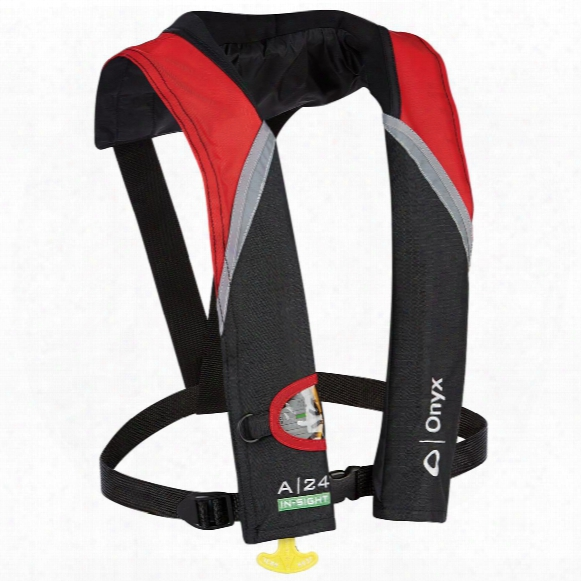 Onyx A-24 In-sight Automatic Inflatable Life Jacket (pfd), Red