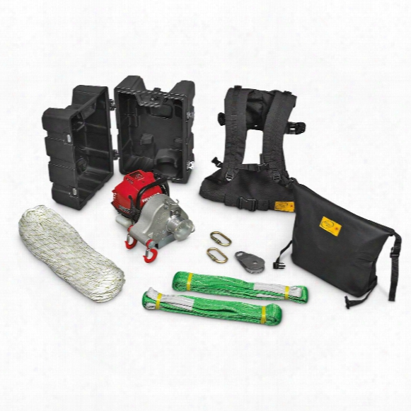 Portable Winch Co. Pcw3000-hk 1,550-lb. Gas-powered Portable Winch Hunting Kit