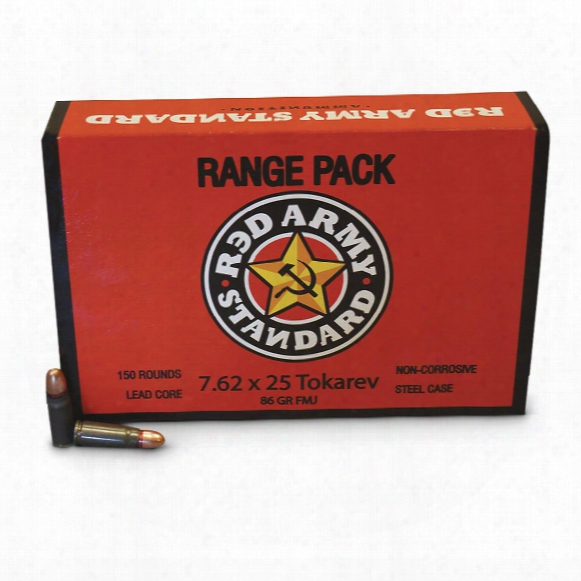 Red Army, 7.62x25mm Tokarev, Fmj, 86 Grain, 150 Rounds