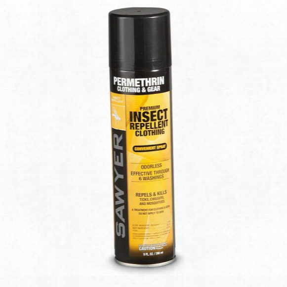 Sawyer Permethrin Mosquito & Tick Repellent, 9 Oz.