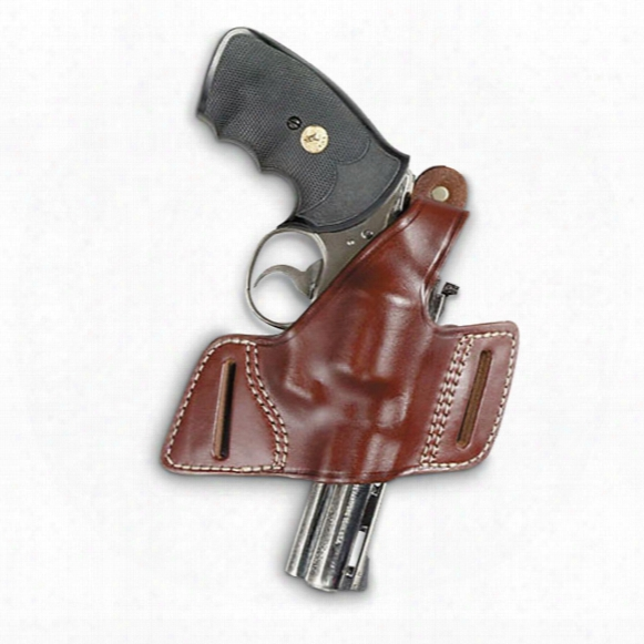 Secret Agent Leather Belt Slide Holster, Right Hand