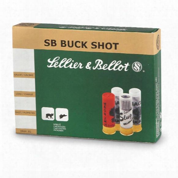 "Sellier & Bellot, 2 3/4"", 12 Gauge#4 21-pellet Buckshot, 250 Rounds"