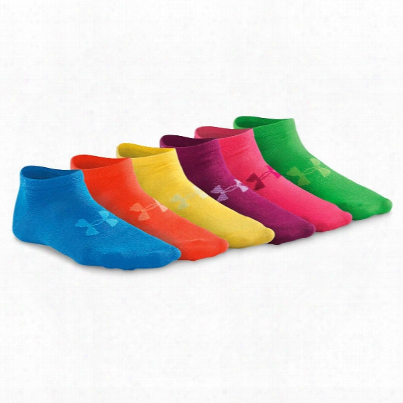 Under Armour Women's No-show Socks, 6 Pairs