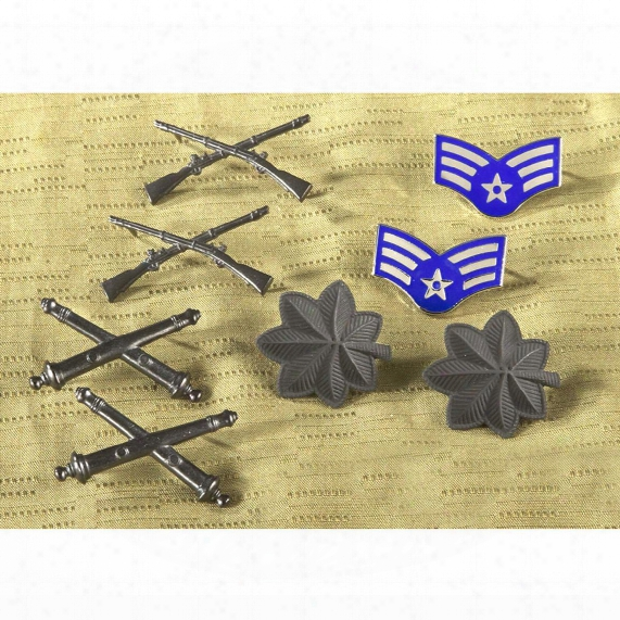 U.s. Military Surplus Assorted Metal Insignias, New