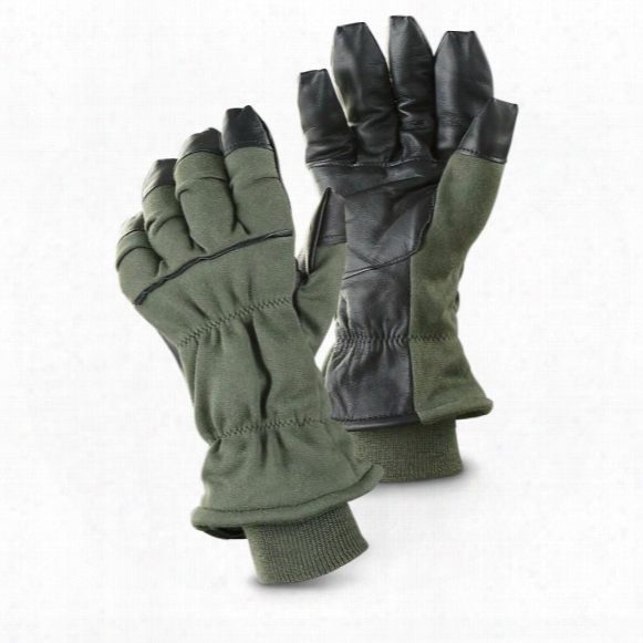 U.s. Military Surplus Cold-weather Flyer Gloves, New