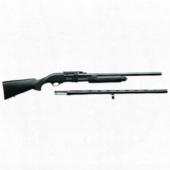 "W Eatherby Pa-08 Synthetic Slug Gun Combo, Pump Acton, 12 Gauge, 28""/24"" Barrels, 4+1 Rounds"