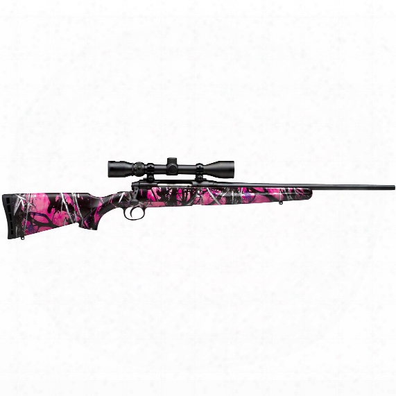 "Youth Savage Axis Xp Muddy Girl, Bolt Action, .243 Winchester, 20"" Barrel, Bushnell Scope, 4 Rounds"
