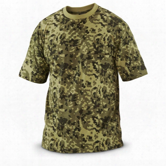 2 Mil-tec Men's Military-style Danish Camo T-shirts