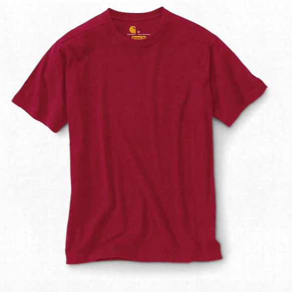 2-pk. Carhartt Men's Maddock Work T-shirts, Dark Red