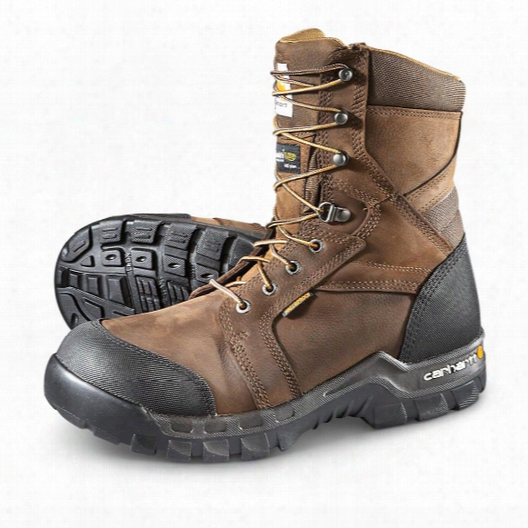 "Carhartt Rugged Flex 8"" Insulated Composite Toe Boots, 400 Grams, Brown"