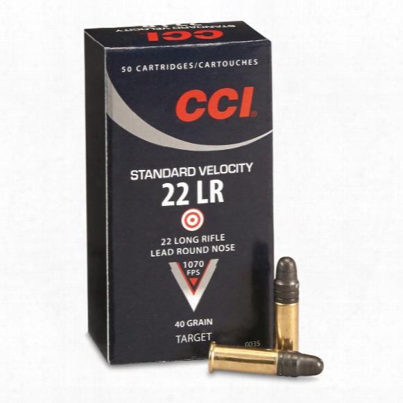 Cci Standard Velocity, .22rl, Lrn, 40 Grain, 50 Rounds