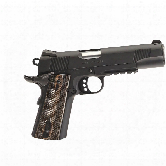 Colt O1980rg 1911 Government Rail Gun, Semi-automatic, .45 Acp, 8+1