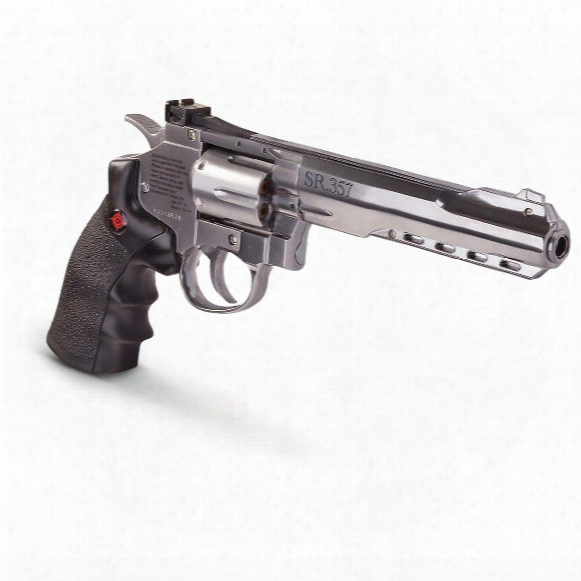 Crosman Sr357 Double/single Action Co2 Bb Pistol, 6 Shot, Silver