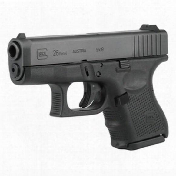 "Glock 26 Gen 4, Semi-automatic, 9mm, 3.42"" Barrel, 10+1 Rounds"