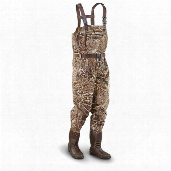 Guide Gear Steel Creek Men's Camo Hunting Chest Waders, Realtree Max-5