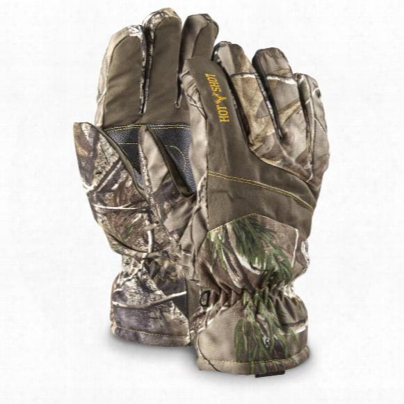 Hot Shot Men's Camo Hunting Gloves, Waterproof, 2 Pack