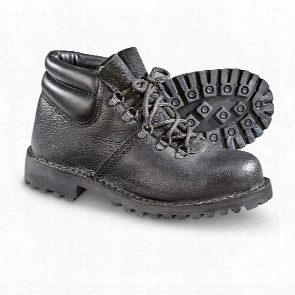 Italian Military Surplus Steel Toe Work Boots, New