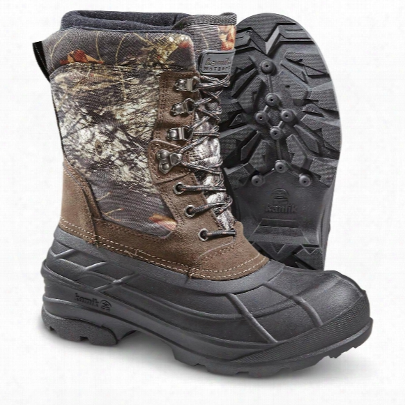 Kamik Men's Nationcamo Insulated Winter Boots, 200 Grmas, Mossy Oak Camo