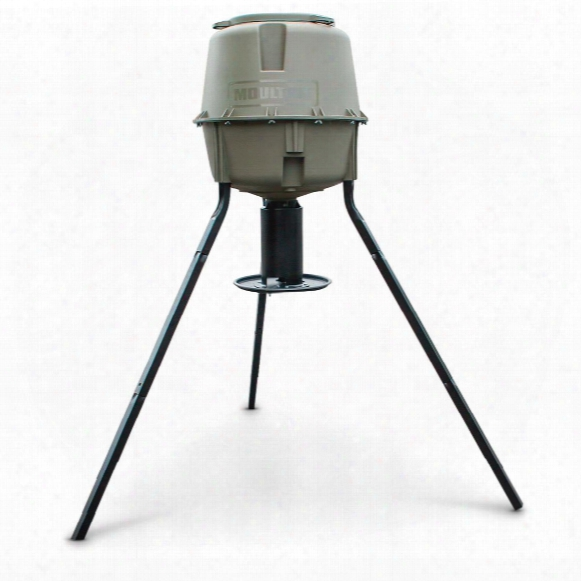 Moultrie Dinner Plate Tripod Deer Feeder, 30 Gallon Capacity