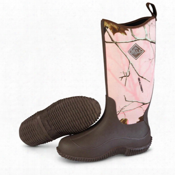 Muck Boot Company Women's Hale Waterproof Boots, Brown/pink Realtree Ap